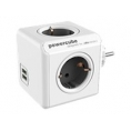Regleta Powercube Original USB 4 Tomas White/Grey