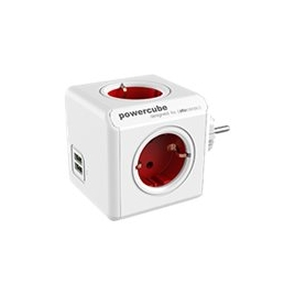 Regleta Powercube Original USB 4 Tomas White/Red