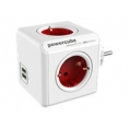 Regleta Powercube Original USB 4 Tomas White/Red
