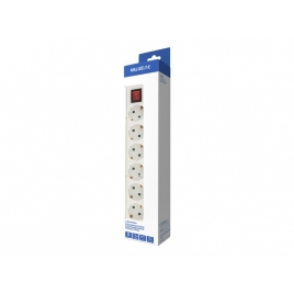 Regleta Value 6 Tomas White 1.5M Interruptor
