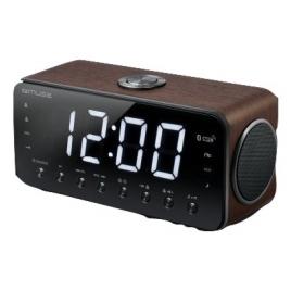 Radio Despertador Muse M-196 DWT + Reproductor MP3 Clock Radio Brown
