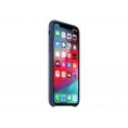 Funda iPhone XS Apple Leather Case Midnight Blue