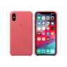 Funda iPhone XS Apple Leather Case Peony Pink