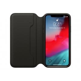 Funda iPhone XS Apple Leather Folio Black
