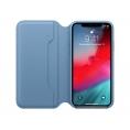 Funda iPhone XS Apple Leather Folio Cape COD Blue