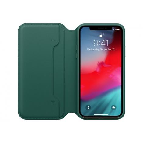 Funda iPhone XS Apple Leather Folio Forest Green