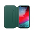 Funda iPhone XS Apple Leather Folio Forest Green
