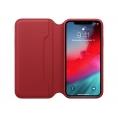 Funda iPhone XS Apple Leather Folio red