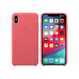 Funda iPhone XS MAX Apple Leather Case Peony Pink