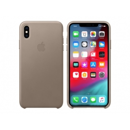 Funda iPhone XS MAX Apple Leather Case Taupe