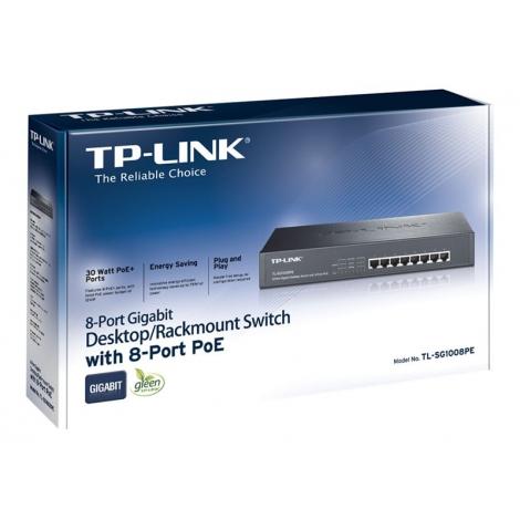 Switch TP-LINK Sg1008pe 10/100/1000 8 Puertos POE