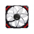 Ventilador 12CM 120X120x25mm NOX H-FAN LED red