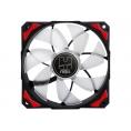 Ventilador 12CM 120X120x25mm NOX H-FAN LED red