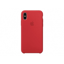 Funda iPhone X Apple Silicone red