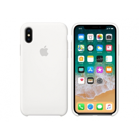 Funda iPhone X Apple Silicone White