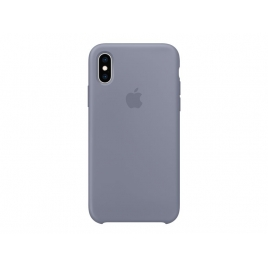 Funda iPhone XS Apple Silicone Lavender Gray