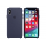 Funda iPhone XS Apple Silicone Midnight Blue