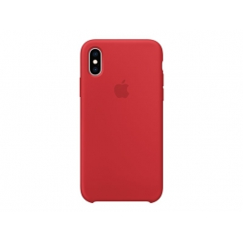 Funda iPhone XS Apple Silicone red