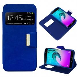 Funda Movil HT Leather Window Blue para Samsung Galaxy A310 A3 2016