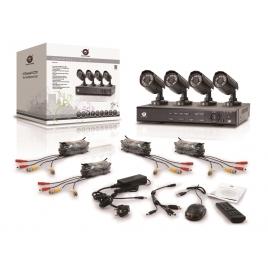 KIT Videovigilancia Conceptronic 4 Camaras Int/Ext + Grabador 4 Canales