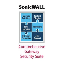 Servicio Sonicwall Comprehensive Gateway Security Suite NSA 3600 Series 1 AÑOS