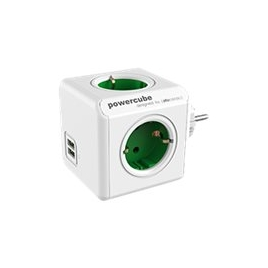 Regleta Powercube Original USB 4 Tomas White/Green