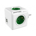 Regleta Powercube Original USB 4 Tomas White/Green