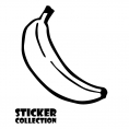 Sticker Adhesivo para Portatil HT Banana Black