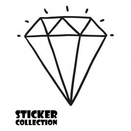 Sticker Adhesivo para Portatil HT Diamond Black