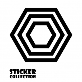 Sticker Adhesivo para Portatil HT Geometric Black