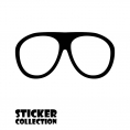 Sticker Adhesivo para Portatil HT Glasses Black