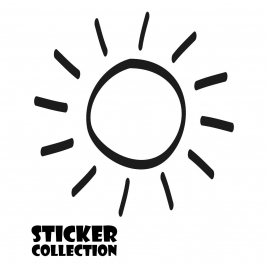 Sticker Adhesivo para Portatil HT SUN Black
