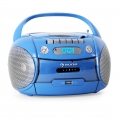 Radiocassette Auna Boomboy CD MP3 USB Cassette Radio FM Blue