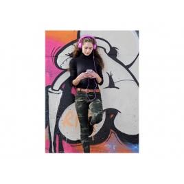 Auricular + MIC Hiditec Cool Kids Purple