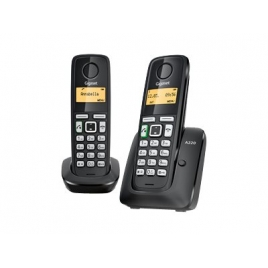 Telefono Inalambrico Siemens Gigaset A220 DUO Black