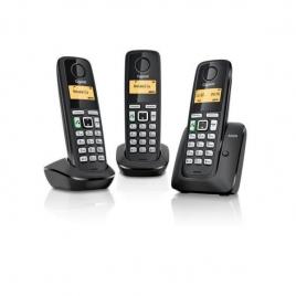 Telefono Inalambrico Siemens Gigaset A220 Trio Black