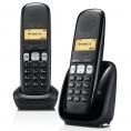 Telefono Inalambrico Siemens Gigaset A250 DUO Black