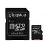 Memoria Micro SD Kingston 256GB Class 10 80MBS + Adaptador SD