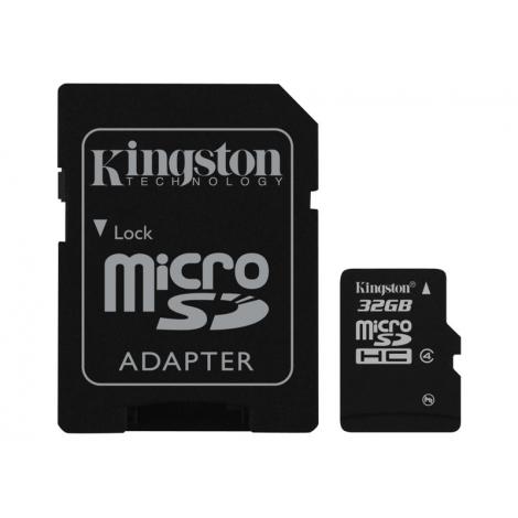 Memoria Micro SD Kingston 32GB + Adaptador
