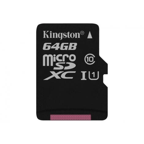 Memoria Micro SD Kingston 64GB Class 10 80Mpbs