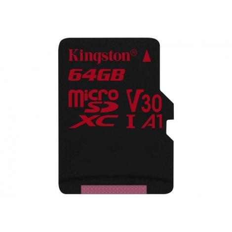 Memoria Micro SD Kingston 64GB U3 Class 10 80Mpbs