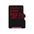 Memoria Micro SD Kingston 64GB U3 Class 10 80Mpbs