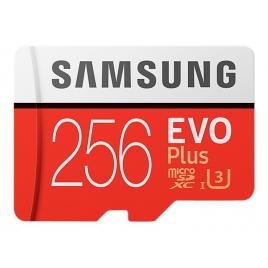 Memoria Micro SD Samsung 256GB EVO Plus Class 10 90Mpbs + Adaptador