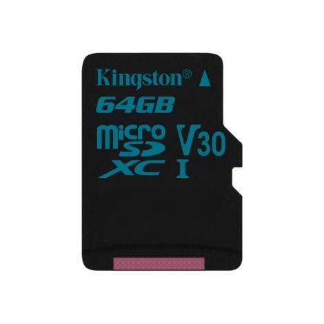 Memoria Micro SD Kingston 64GB U3 Class 10 90Mpbs