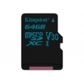 Memoria Micro SD Kingston 64GB U3 Class 10 90Mpbs