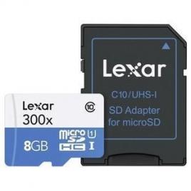 Memoria Micro SD Lexar 8GB Class 10 45Mpbs + Adaptador