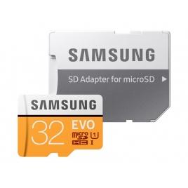 Memoria Micro SD Samsung 32GB EVO Class 10 95Mpbs + Adaptador