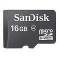 Memoria Micro SD Sandisk 16GB Class 2