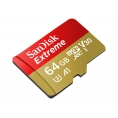 Memoria Micro SD Sandisk 64GB Extreme U3 V30 + Adaptador SD