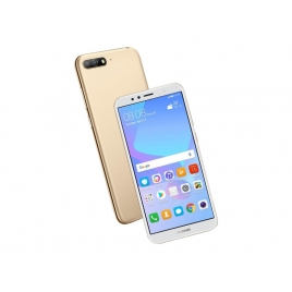 "Smartphone Huawei Y6 2018 5.7"" QC 16GB 2GB 4G Android 8.0 Gold"